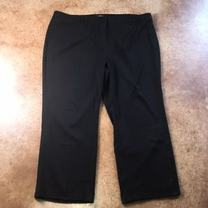 Lane Bryant 28 black wide leg cuffed black pants